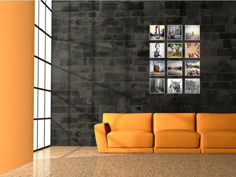 DLF Collage met 20 x 20 cm D-Line aluminium D-Line wissellijsten mat zilver, met extra voordeel