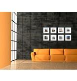 DLF Collage met 30 x 30 cm D-Line aluminium D-Line wissellijsten mat zwart, met extra voordeel