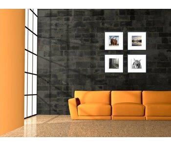 Collage zilver 40 x 40 cm lijsten D-Line mat zwart