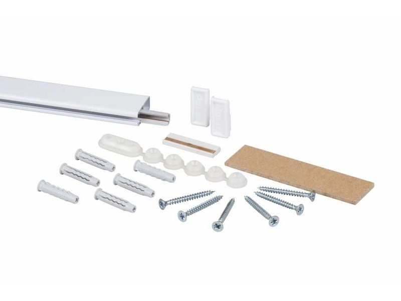 STAS multirail rail kit wit 200 cm rail inclusief inclusief montage materiaal