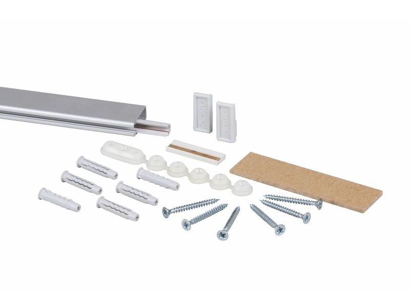 STAS multirail rail kit ALU 200 cm rail inclusief inclusief montage materiaal