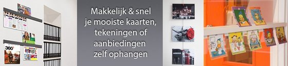 Ophangsysteem posters en kaarten