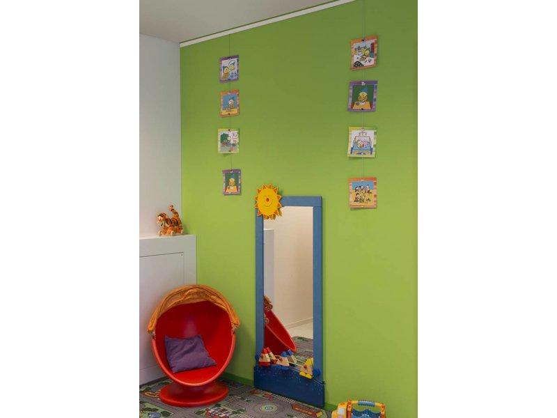 STAS Magnet set wit - 150 cm inclusief 10 gekleurde magneetjes
