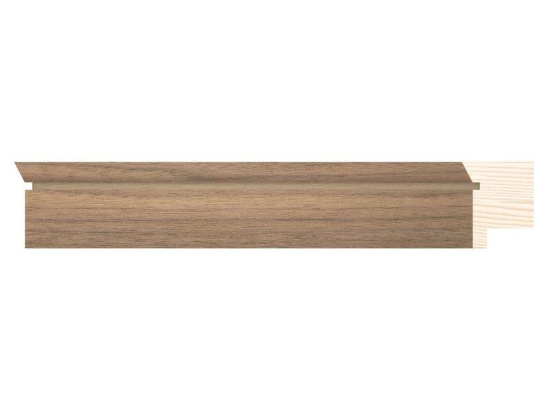 DLF Touchwood Unique M - Walnoot afwerking met opstaande rand