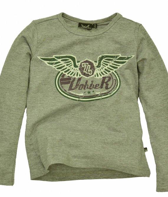 Dobber T-shirt, grey melange smoke, wintercollectie meisjes