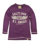 Salty Dog T-shirt purple, wintercollectie meisjes
