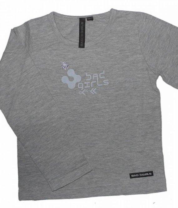 Bad Girls T-shirt grey meisjes BG13974302