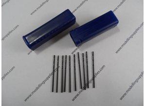 Mini drills 10 st. 0.3-3.0 mm