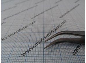 Kreuz Pinzette gebogene Spitzen - Rostfrei Stahl