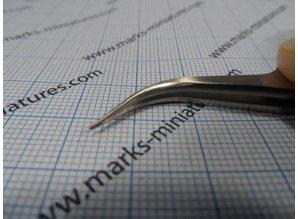 Pinzette gebogene Spitzen - Rostfrei Stahl - Anti Magnetisch