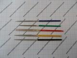 Needle files set 100mm mini Diamond- 6pcs.