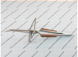 Kreuz Pinzette gebogene Spitzen auf stander - hitzebestandig
