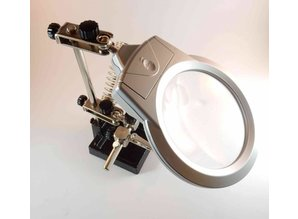 Dritte Hand mit Lupe 90mm LED