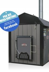 Outdoor Boilers of Europe Classic CLE 7260   Antraciet   dual fuel ready