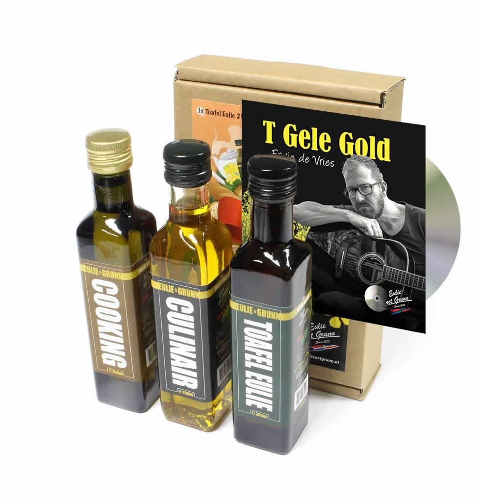 CD-single  Erwin de Vries + Eulie oet Grunn geschenkverpakking 3 pack