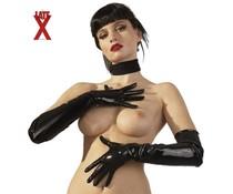 LateX Handschuhe Lang Schwarz