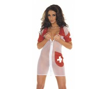 Rimba Erotic Fashion Transparante Verpleegstersjurk
