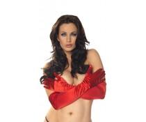 Rimba Erotic Fashion Lange Rode Handschoenen