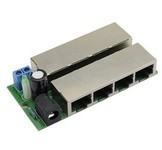 PoE power module 4poort power+data,