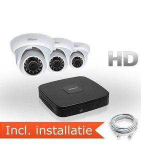 Dahua HD IP Pakket 3 Camera's Inclusief Installatie