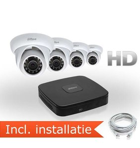 Dahua HD IP Pakket 4 Camera's Inclusief Installatie