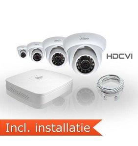 Dahua HDCVI Pakket 4 Camera's Inclusief Installatie