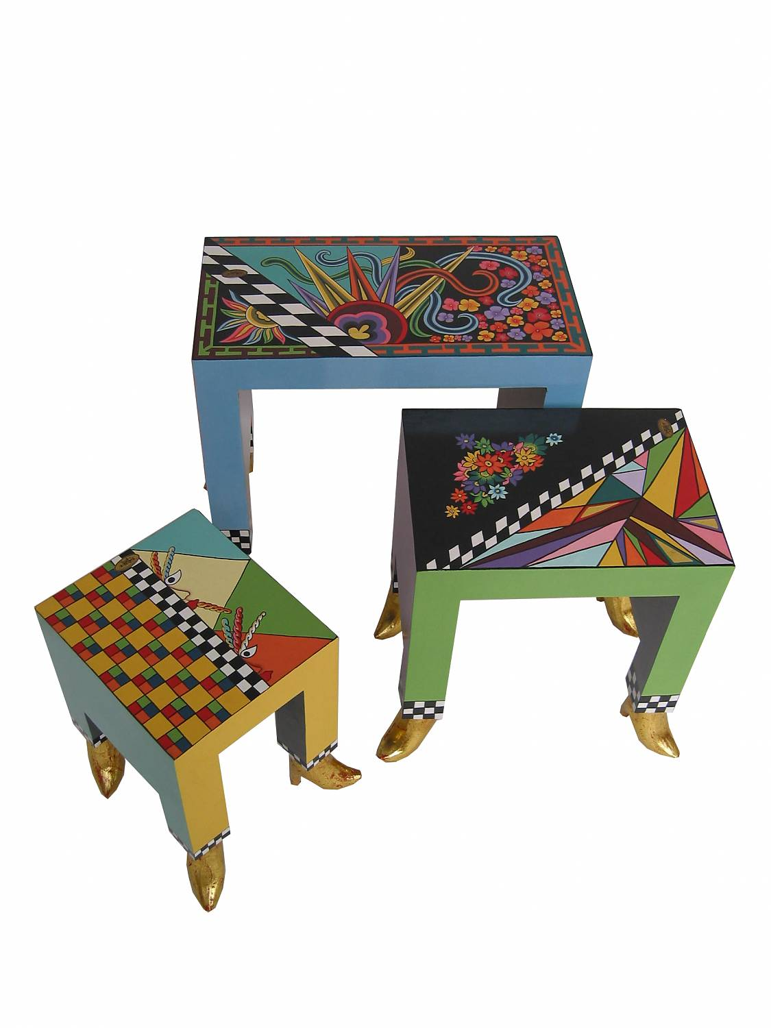 Toms Drag Set of three end tables, side table - DECOVISTA - colorful ...