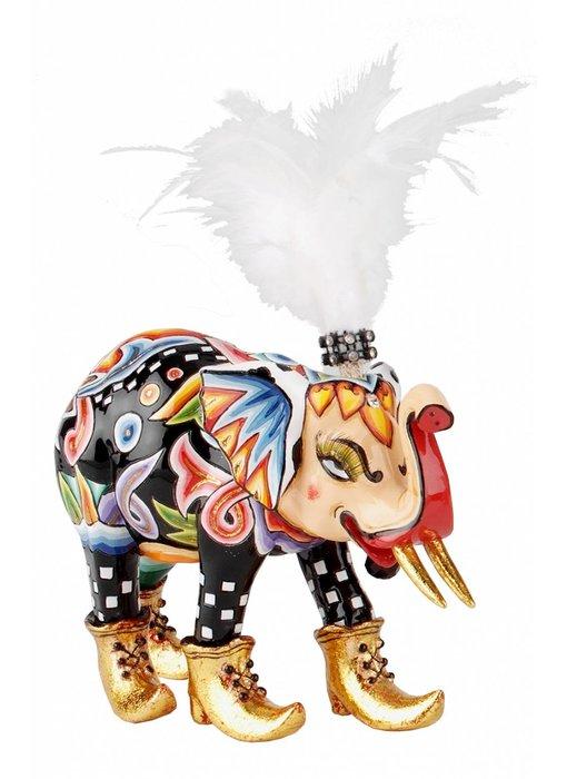 Toms Drag Olifant beeld, olifantenbeeldje Miss Baba