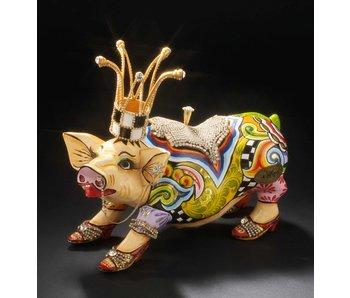 Toms Drag Schweinstatue Lolita mit Aufbewahrungsbox - L