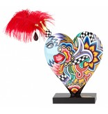 Toms Drag Heart with red feather, 25 cm