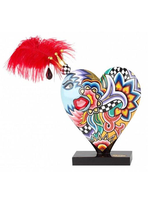 Toms Drag Herz mit roten Feder - L