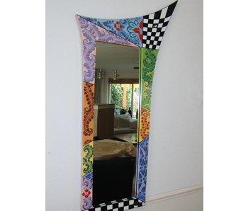 Toms Drag Spiegel - lange smalle - a-symmetrische designspiegel - 100 cm