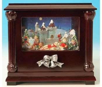 Musicboxworld Snowman castle in show case