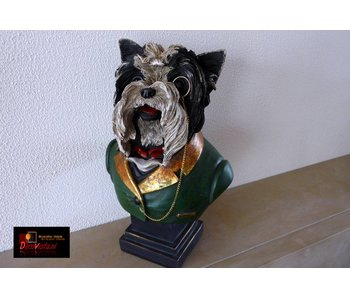 Terrier bust - 24cm