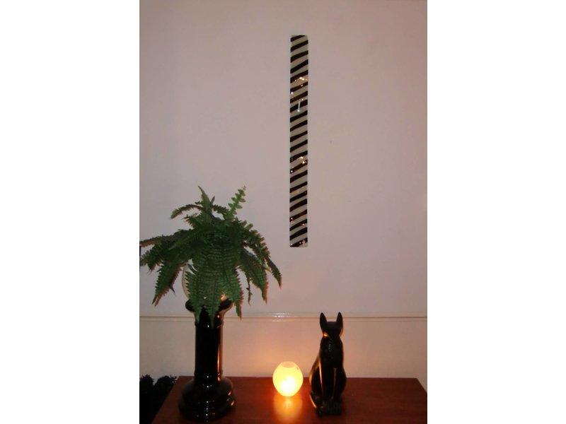 carneol lange wanduhr zebra design wei schwarz 98 cm decovista farbenfrohe. Black Bedroom Furniture Sets. Home Design Ideas