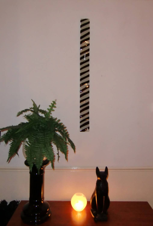 Carneol Zebra Design Long Wall Clock White Black 98 Cm Decovista Colorful Art Toms Drag