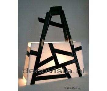 Elena Elena Table Lamp Black & White - asymmetric