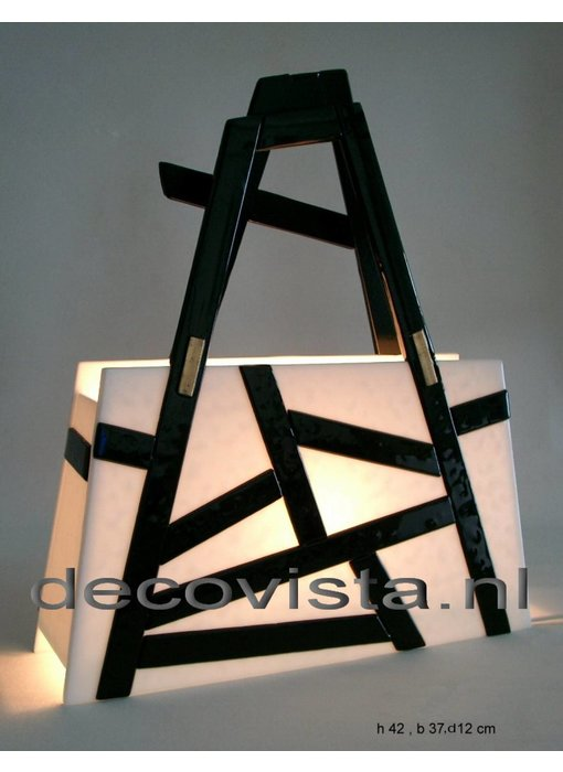 Elena Elena Table Lamp Black & White - asymmetric