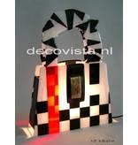 Elena Table Lamp - Schag black-white-red