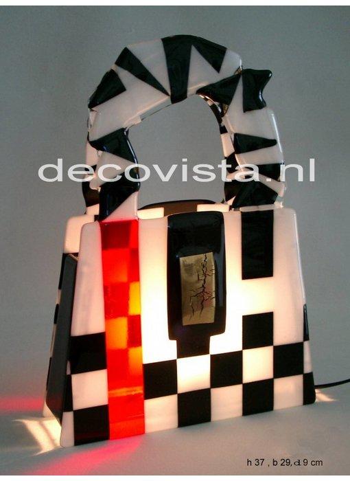 Elena Tafellamp Elena - Schag zw-wit-rood