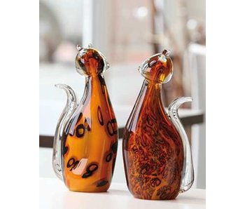 Vetro Gallery Glass Sculptures set cats