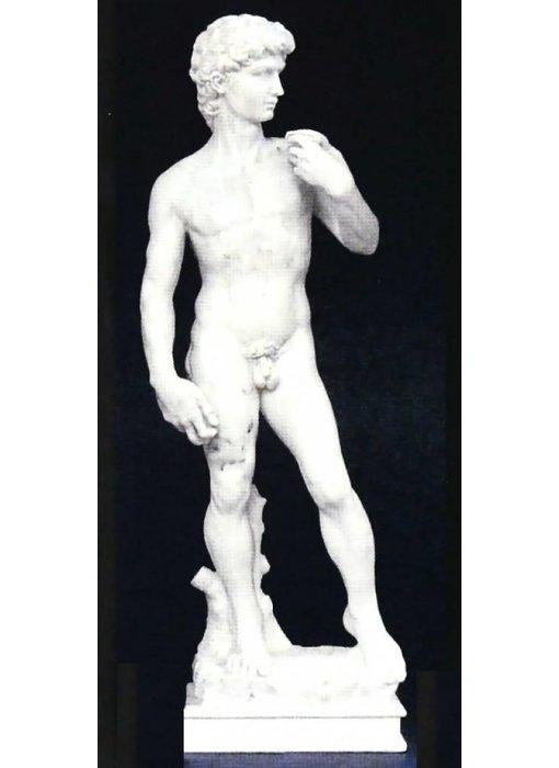 Mouseion Michelangelo's David - beeldje - wit