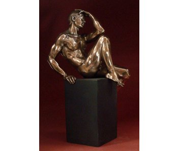 BodyTalk Muscular body builder - sculpture on pedestal