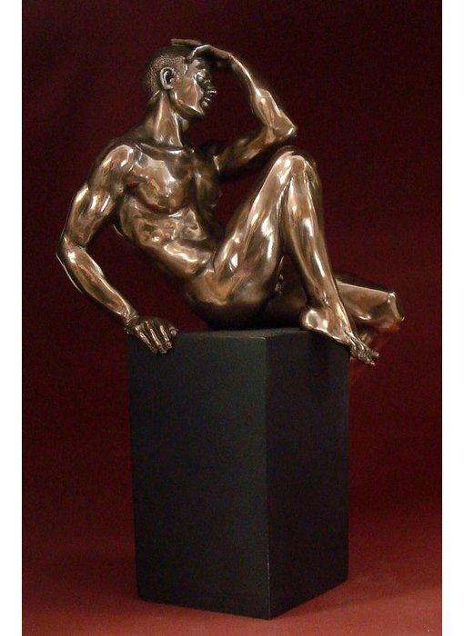 BodyTalk Muscular body builder - sculpture on pedestal