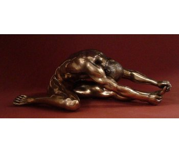BodyTalk Patinated bronze sculpture - man