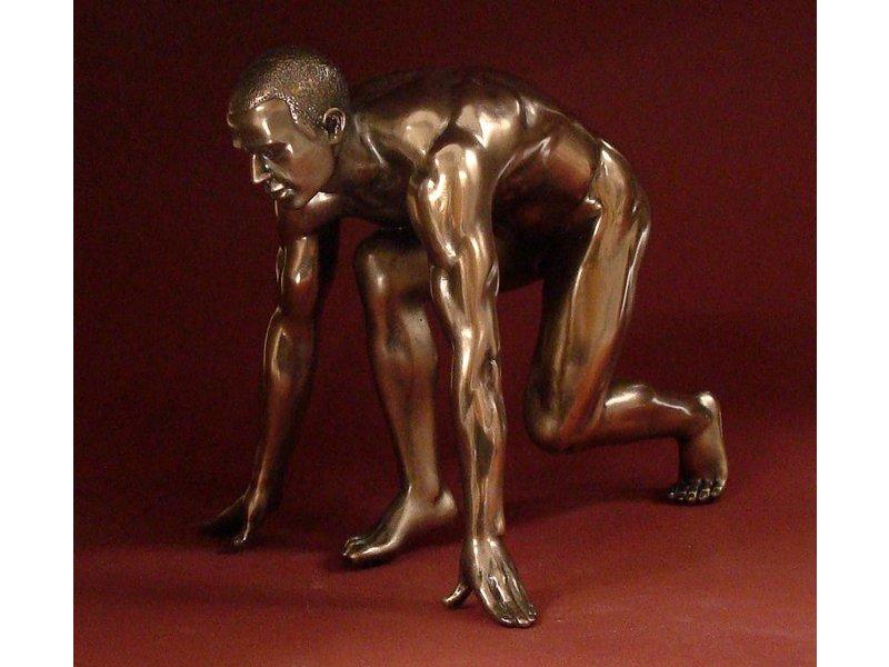 BodyTalk Patinated bronze sculpture - man