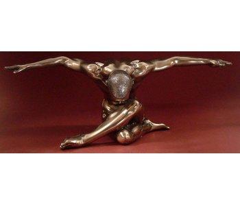 BodyTalk Bodybuilder naaktsculptuur buigende man - L