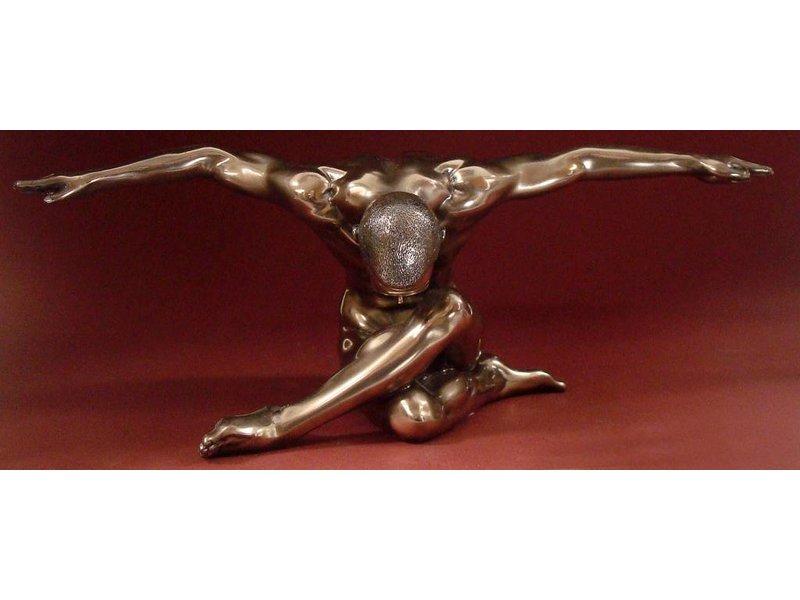 BodyTalk Naakt sculptuur sportman - L
