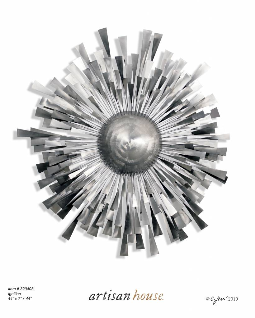 Metal Wall Sculpture c. jeré pulsar metal wall sculpture, wall decoration - decovista