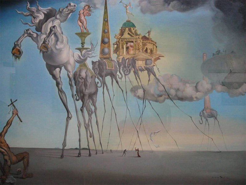 Salvador Dali White horse from The temptation of Saint Anthony (1946) - Dali